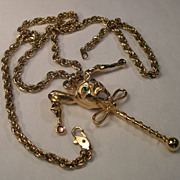 Accessocraft NYC Jester Charm and Chain Necklace
