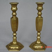 Pr. Brass Candlesticks, England-