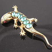 Coro Craft 1940�s Sterling Salamander Brooch