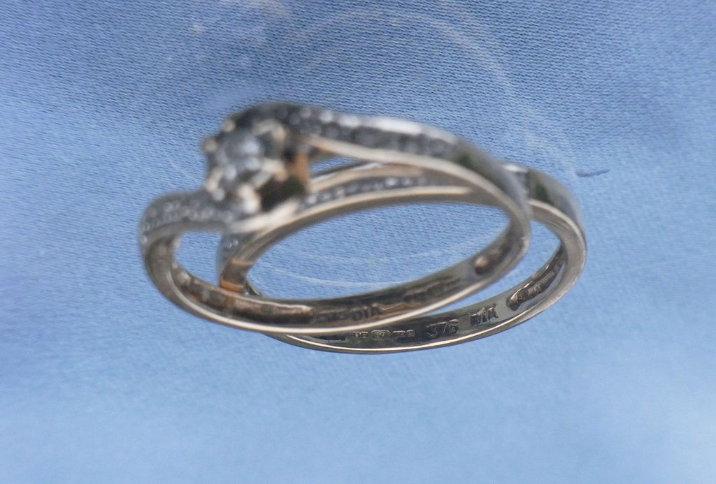 Vintage 1950s Wedding Set Engagement Marriage Rings 9K HM