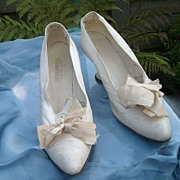 Beautiful Edwardian Kid Leather Wedding Shoes