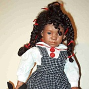 Shug-14 ' black bisque doll by Judy Kapron