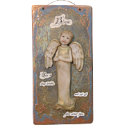 SALE Wonderful Angel plaque -One of a kind