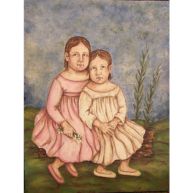 Wonderful painting of two children