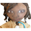Wonderful primitive Black folk art doll