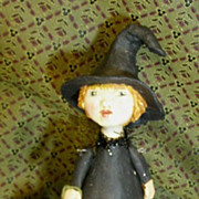 Primitive Folk art Witch