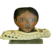 Oil painted cloth Black doll`Shelf sitter