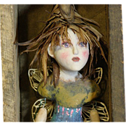 Primitive Art doll fairy/faerie OOAK