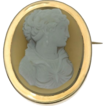 French Antique Cameo Brooch