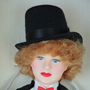 "REDUCED Lucille Ball Effanbee Doll Celebrity Series 1985 16 1/2"" MIB Comedienne"