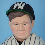 "REDUCED Babe Ruth Effanbee 1985  Baseball Celebrity Sports Doll  MIB 15 1/2"" Vintage New"
