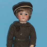 "SOLD Antique German Bisque Boy Doll  Nils  20"" Tall  Compo Body Dressel Co."