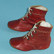 SOLD Antique Childrens Shoes For Dolls Or Display  Vintage Clothing
