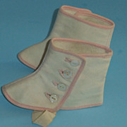 REDUCED Vintage Childrens Shoes For Dolls Or Display Vintage Clothing Spats