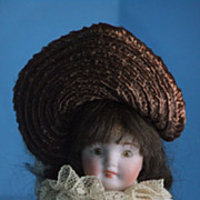 "REDUCED All Bisque Old German  Doll  5 1/2 ""  Glass Eyes"
