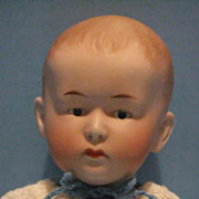"REDUCED Gebruder Heubach Closed Mouth Pouty Character Baby  11 1/2"" Old German Bisque Dol"