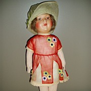 "REDUCED Lenci-Type Doll  1930  17"" Vintage Composition"