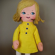 REDUCED Morton Salt Advertising Doll  Cloth  MIB
