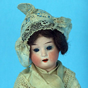 "REDUCED Ernst Heubach Old German Bisque Head Doll 8"" Composition Body  #250"