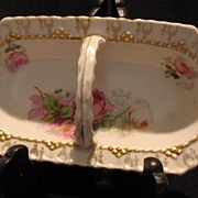 Hand Painted Relish Basket Made In Germany