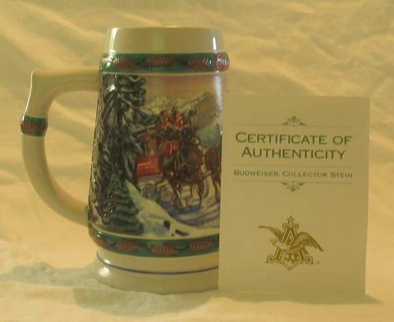 Budweiser 1993 Holiday Stein Titled, &quot;Special Delivery&quot;