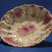 Hand Painted Unmarked Porcelain Center Bowl