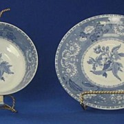 "Spode ""Camilla"" Pattern Cream Soup Bowl And Under Plate"