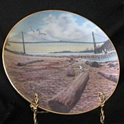 """Lion's Gate"" Collector Plate From ""Visions Of Vancouver"""