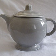 Homer Laughlin fiesta Gray Teapot