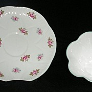 "Shelley Dainty ""Rosebud"" Cup And Saucer"