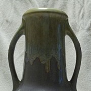 Tall German Vase With Drip Glaze