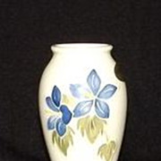 Moorcroft Blue Lily Vase With Original Label