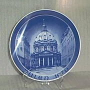 Julen 1970 Blue and White Porcelain Plate-Made in Germany
