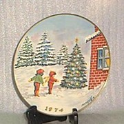 Gorham 1974 First Edition Christmas Plate By Mingolla