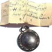 SALE FEDERAL American Mourning Locket for Mary & Eleazer Bispham, Cousins of Ralph Waldo Emers