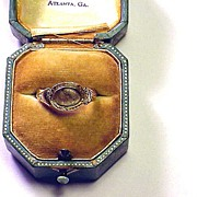 SALE SUBSTANTIAL Pre-Georgian 22k Posy Ring w/Late Georgian Conversion, c.1690!
