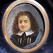 SALE DIVINE French Oil on Copper Portrait Miniature of a Puritan or Huguenot Gentleman, c ...