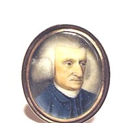 SALE MASTERPIECE Irish Miniature of Gentleman in 15k Ring, c.1780!