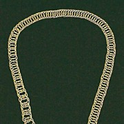 SALE EXQUISITE Georgian 15k Canetille/Link Necklace, c.1820!