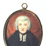 MASTERPIECE Portrait Miniature on Ivory of a Judge, c.1825!