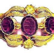SALE LUSCIOUS Georgian Pinchbeck/Paste Brooch, c.1830!