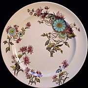 SALE Aesthetic Brown Polychrome Plate ~ OVERTON 1883