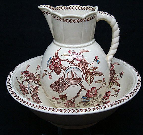 Polychrome Basin & Jug ~ GORDON 1892