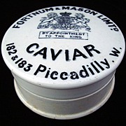 SALE English Victorian CAVIAR Pot and Lid ~ 1890
