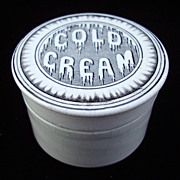 SALE English Victorian Dripping Cold Cream Pot ~ 1880