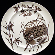 SALE Superb English Aesthetic Movement Plate ~ CHOCO 1880