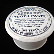 SALE Rare Areca Nut Quack Medicine Tooth Paste Pot and Lid 1885