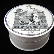 SALE Quack Medicine Holloway's Ointment Cure-All Medicine Pot ~ 1880
