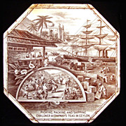 SALE RARE Advertising Tile ~  Ceylon Tea 1888