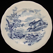 SALE Fontaine's Fables ~ Hare & Tortoise Plate 1891